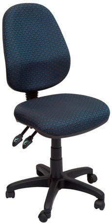 Stradbroke High Back Task Chair - Navy fabric