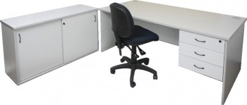 Silver Grey Office Desk