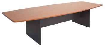 Function Boat Shape Meeting Table, 3000mm x 1200mm