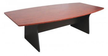Executive Boat Shape Boardroom Table - Birch Colour