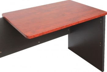 Executive Attached Desk Return - Birch/Ironstone Colour