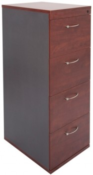 Executive 4 Drawer Filing Cabinet - Birch Colour