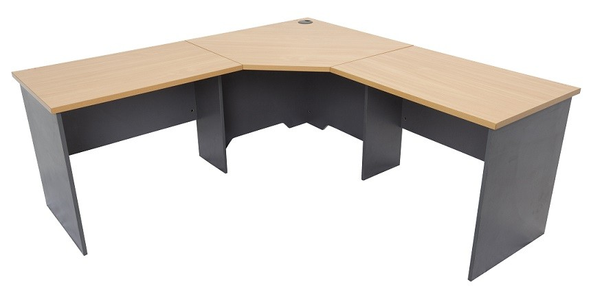 Home / Office Computer Desks & Tables / CORNER WORKSTATION, BEECH OR