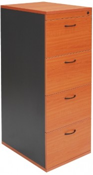 Function 4 Drawer Filing Cabinet - Cherry Colour