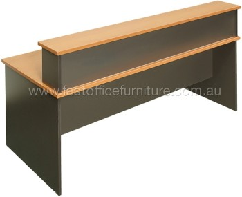 Reception Desk with Straight Front Cowl