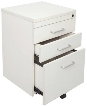 Space System Mobile Drawer Unit Parchment (off-white)