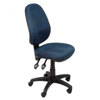 Stradbroke High Back Chair, Navy Fabric