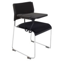 Tina Chair with Seat and Back Pad and Tablet Arm