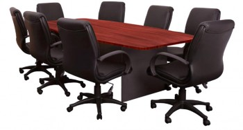 Executive Boardroom Table with Medium Back Bribie Chairs