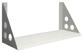 Space System screen hung shelf, Parchment (off-white) colour