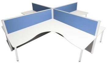 4 desk cluster