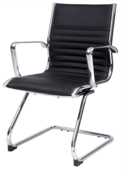 Black Leather Client Visitor Chair