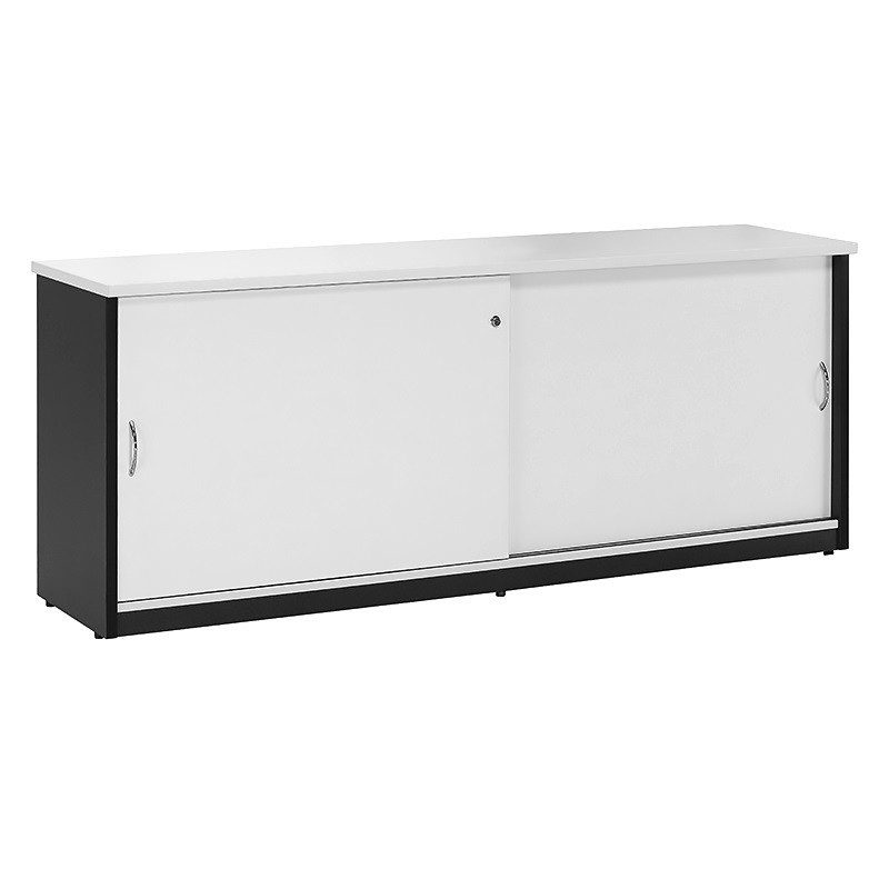 White office credenza Sideboard Chill Sliding Door Credenza White Office Suite Fast Office Furniture Chill Sliding Door Credenza Fast Office Furniture