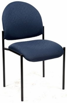 Lincoln Chair no Arms, Blue Fabric