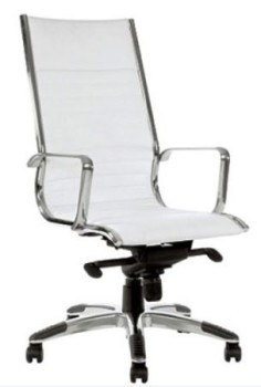 White High Back Leather Office Chair