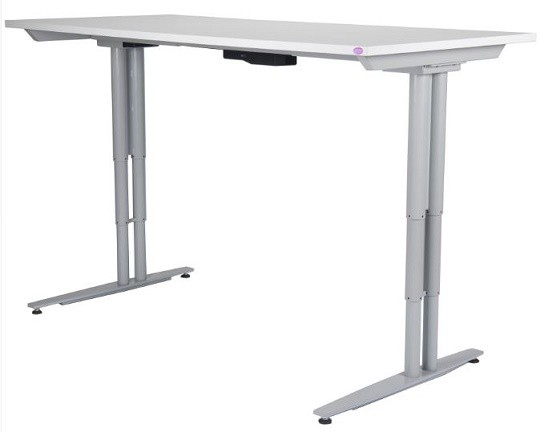 Rize Height Adjustable Desk, Parchment Top