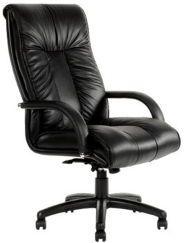 Black Leather Statesman Executive Chair