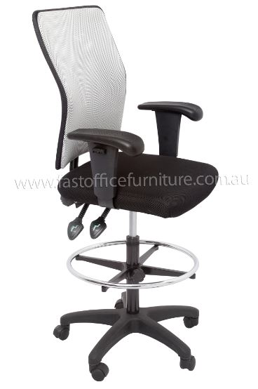 Caprice Mesh High Back Drafting Chair Fast Office Furniture