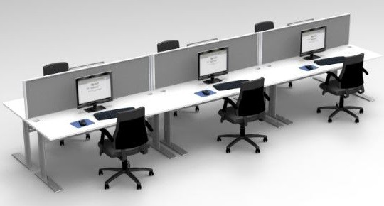 Express Space System 6 Way Desk Cluster Fast Office