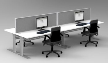 EXPRESS SPACE SYSTEM 4 WAY DESK CLUSTER