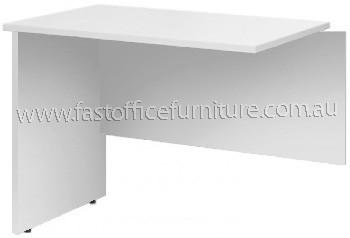 grey desk return