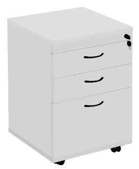 Function Silver Grey Mobile Drawer Unit with 2 Personal plus 1 File Drawer