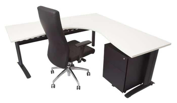 Black and White Corner Desk