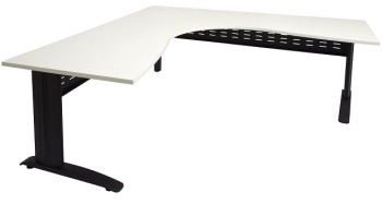 Black and white desks