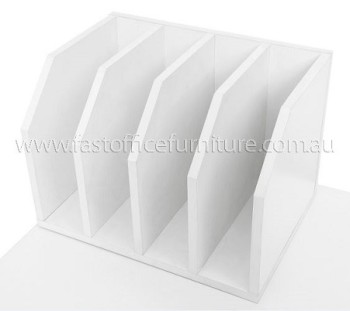 Stationary Organiser White Horizontal