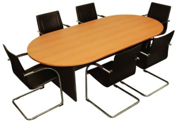 Timber meeting table and chairs