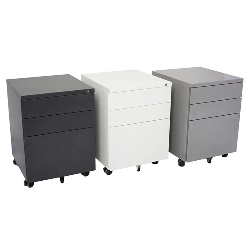 super strong metal mobile drawer pedestal fast office