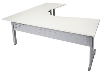 white moders corner desk