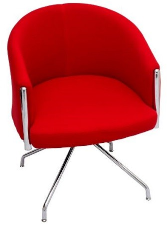 Red visitor lounge chair