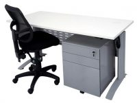 Space System Sit Stand Electronic Height Adjustable Desk, Chair and Mobile Package. Image 2