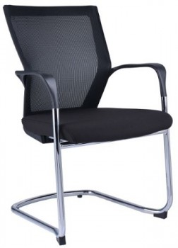 Mesh visitor chair with cantilever base