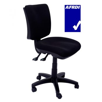 Carina Medium Back Chair, Black