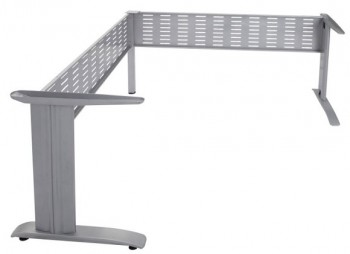 Space System Corner Workstation Frame, Silver, No Desk Top