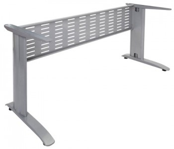 Space System Desk Frame, Silver, No Desk Top