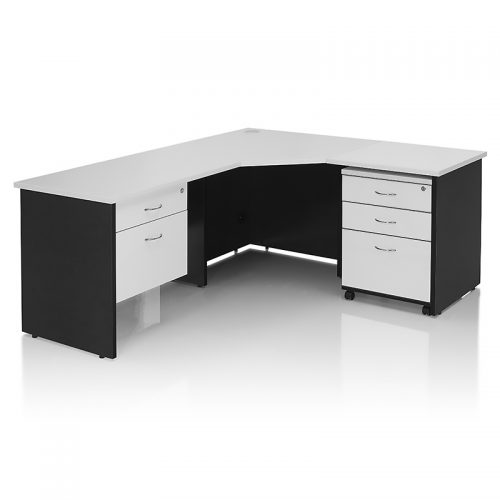 Chill Corner Workstation with Optional Drawer Units
