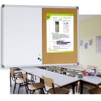 Magnetic White Board and Cork Board Combo
