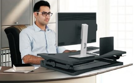Elevate Height Adjustable Desktop Stand White Fast