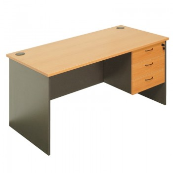 Function Desk with Optional Fixed Drawer Unit