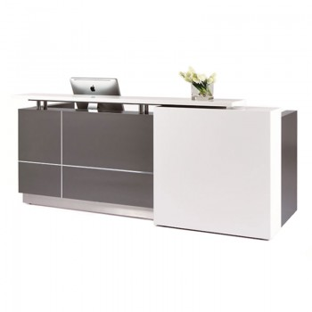 Contour Reception Desk, Left Hand Front Feature Panel
