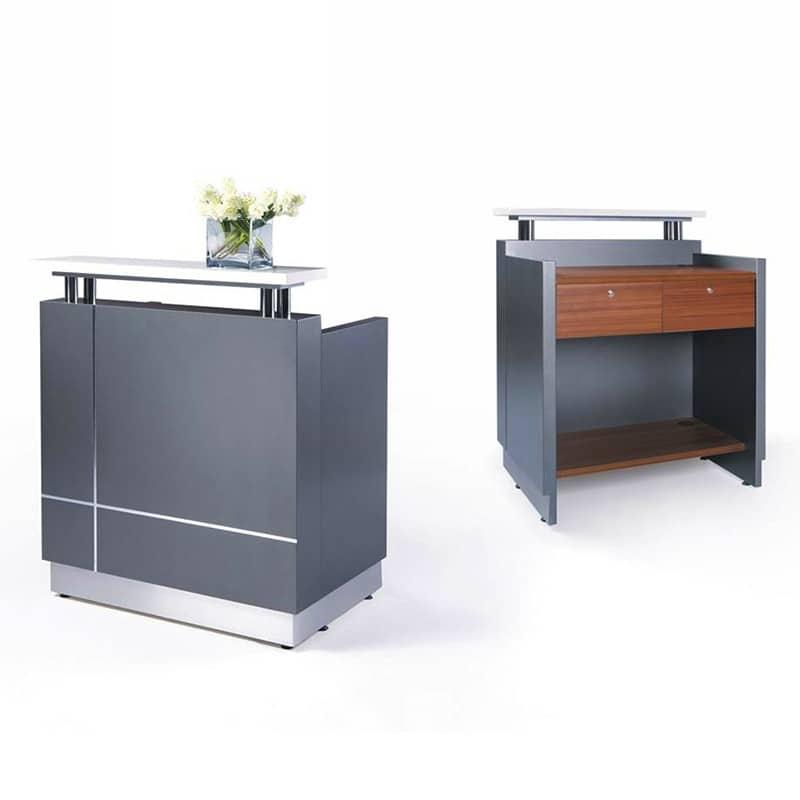 Genie Mini White Gloss Reception Desk Fast Office Furniture