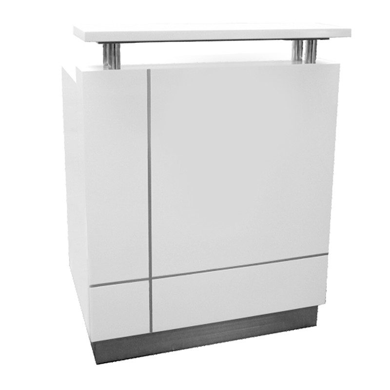 Genie mini white gloss reception desk fast office furniture for Reception furniture