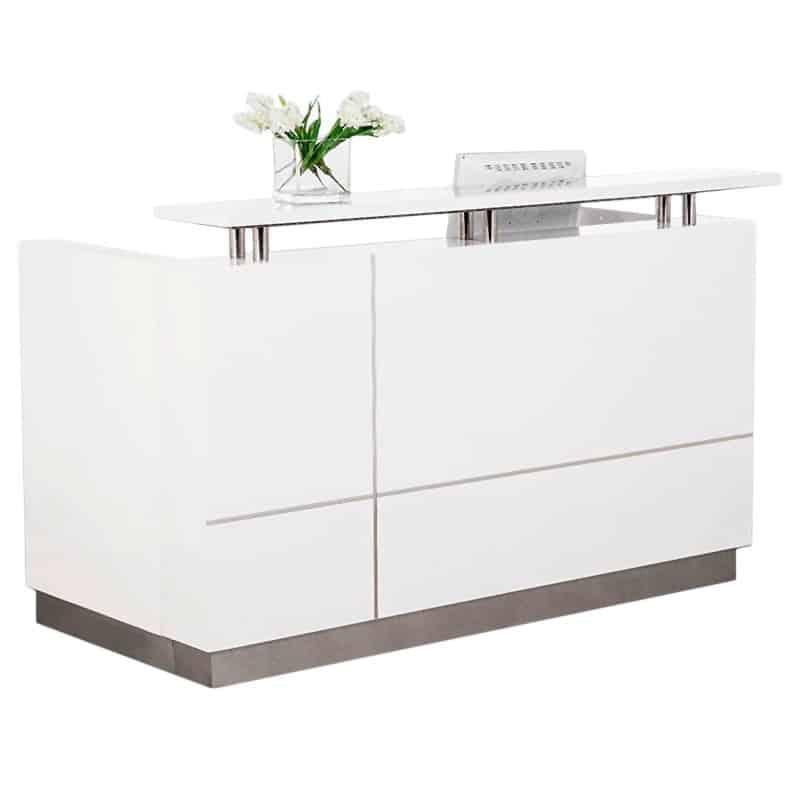 Outline White Gloss Reception Desk