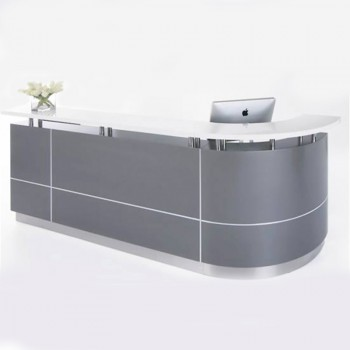 Silhouette Reception Desk, Left Hand Curved Return