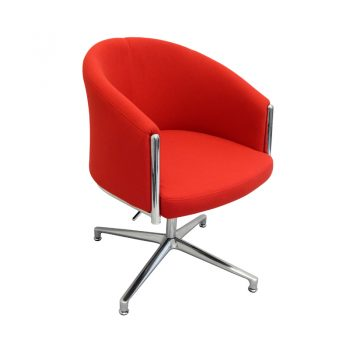 Charlotte Chair, Red Fabric