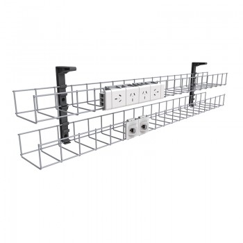under-desk-two-tier-cable-basket-1-quad-power-point-space-for-2-data-outlets