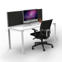 Integral Desk with Screen Divider